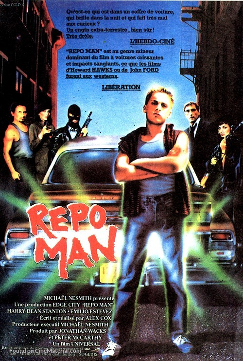 Repo Man - French Movie Poster
