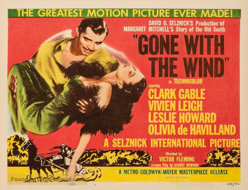 Gone with the Wind - Re-release movie poster