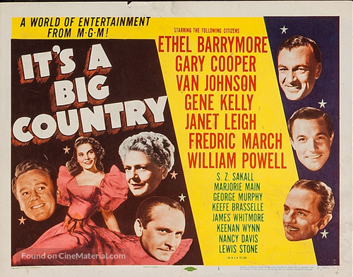It's a Big Country - Movie Poster