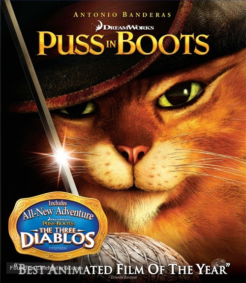 Puss in Boots - Blu-Ray movie cover