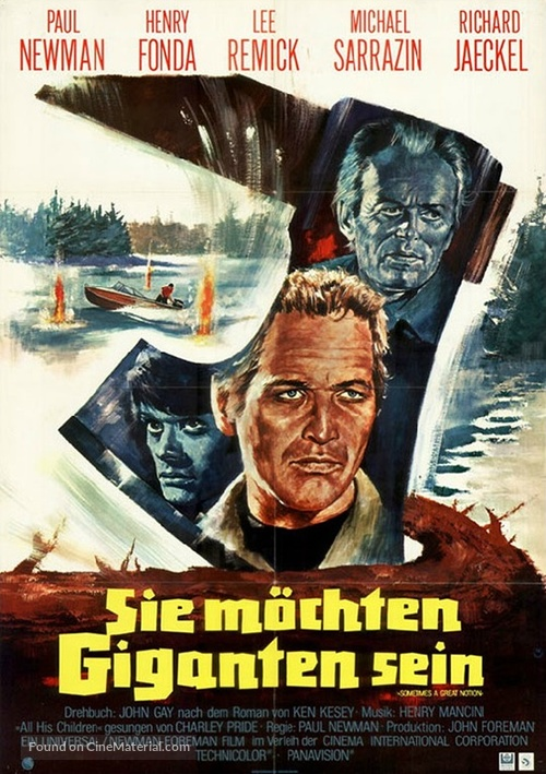 Sometimes a Great Notion - German Movie Poster