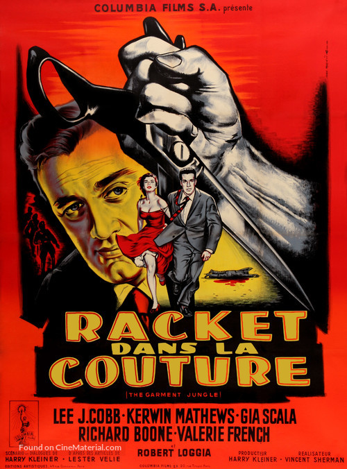 The Garment Jungle - French Movie Poster