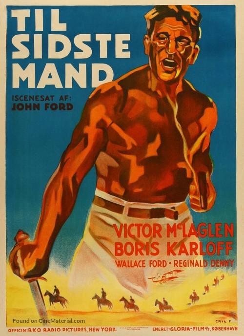 The Lost Patrol - Danish Movie Poster