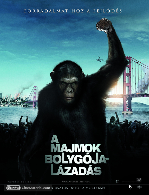 Rise of the Planet of the Apes - Hungarian Movie Poster