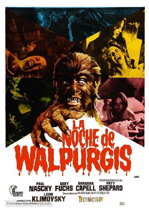 La noche de Walpurgis - Spanish Movie Poster