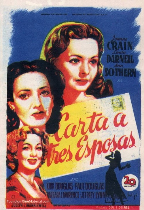 A Letter to Three Wives - Spanish Movie Poster