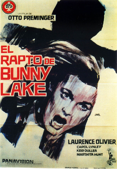 Bunny Lake Is Missing - Spanish Movie Poster