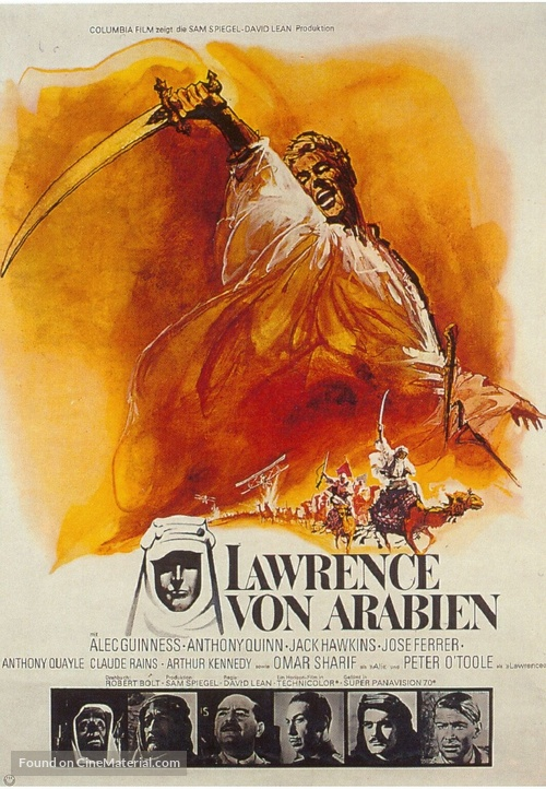 Lawrence of Arabia - German Movie Poster