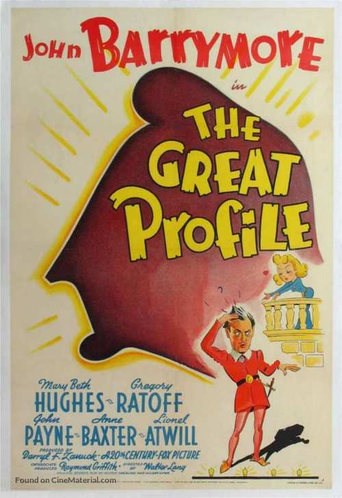 The Great Profile - Movie Poster