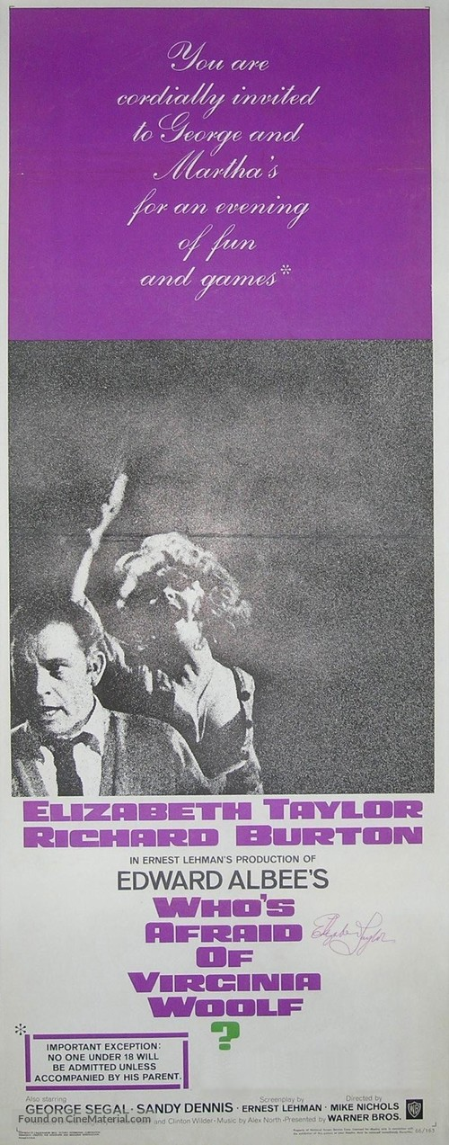 Who's Afraid of Virginia Woolf? - Movie Poster