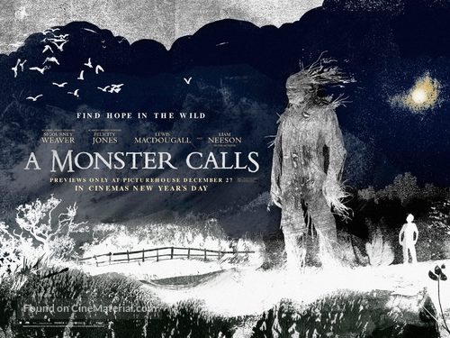 A Monster Calls - British Movie Poster