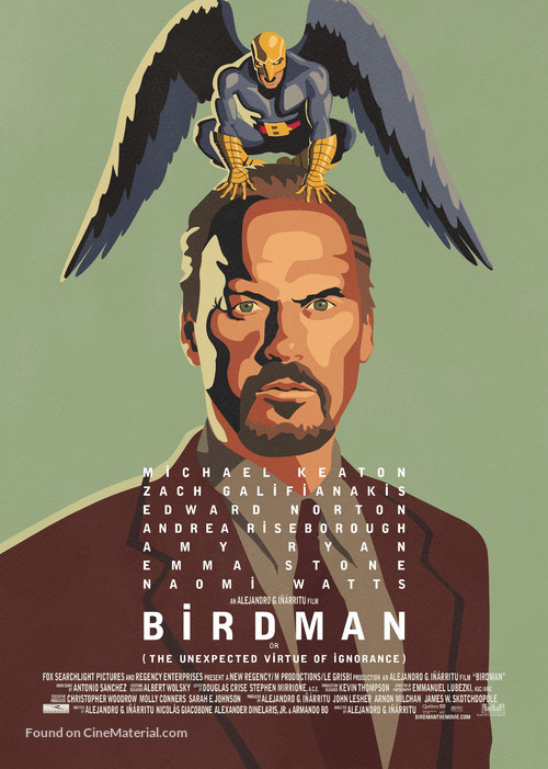 Birdman or (The Unexpected Virtue of Ignorance) - Movie Poster