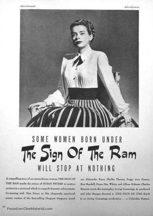 The Sign of the Ram - poster