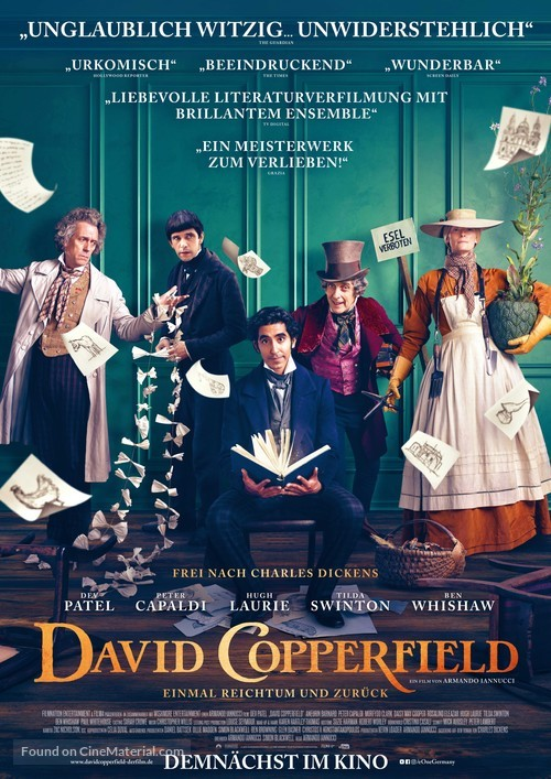 The Personal History of David Copperfield - German Movie Poster