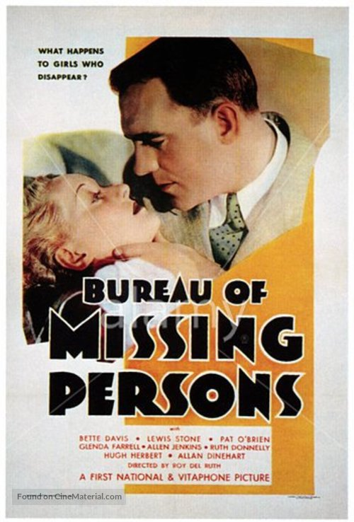 Bureau of Missing Persons - Movie Poster
