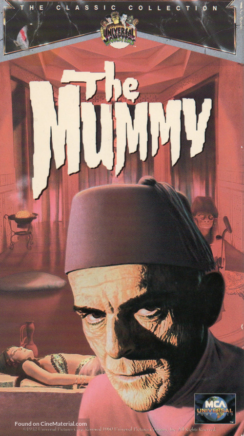 The Mummy - VHS movie cover