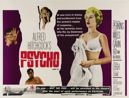 Psycho - British Movie Poster