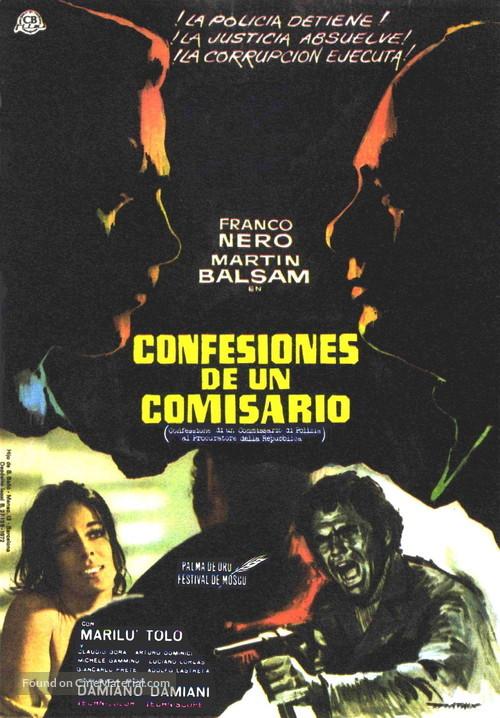 Confessione di un commissario di polizia al procuratore della repubblica - Spanish Movie Poster