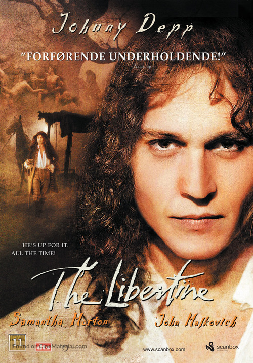 The Libertine - Danish DVD cover