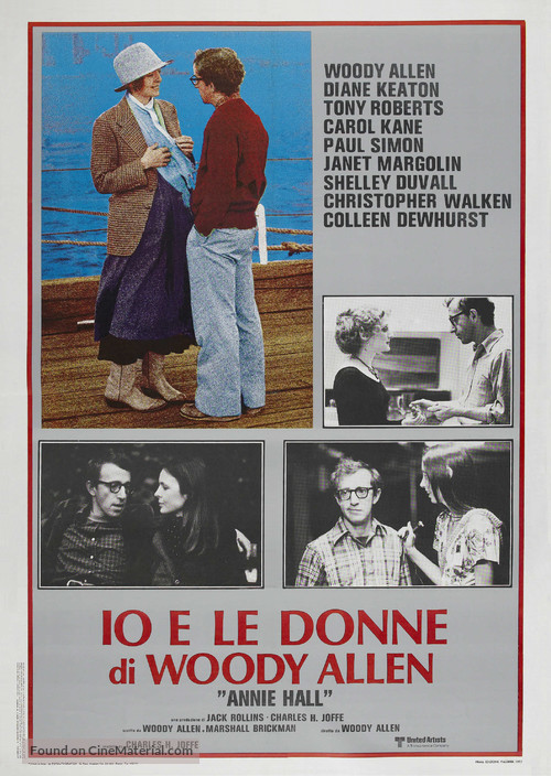 Annie Hall - Italian Theatrical movie poster