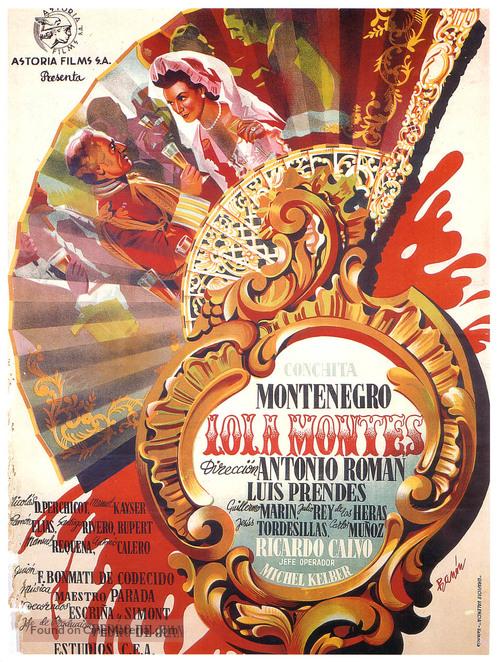 Lola Montes - Spanish Movie Poster