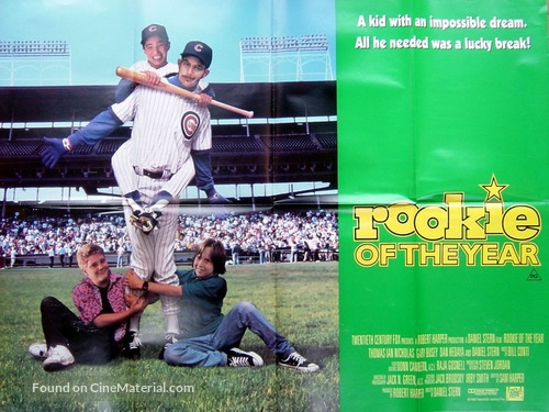 Rookie of the Year (1993) British movie poster  Rookie Of The Year Movie