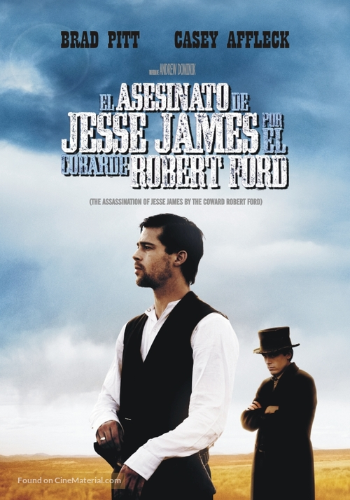 The Assassination of Jesse James by the Coward Robert Ford - Argentinian DVD movie cover