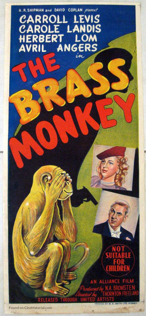 Brass Monkey (1948) Australian movie poster