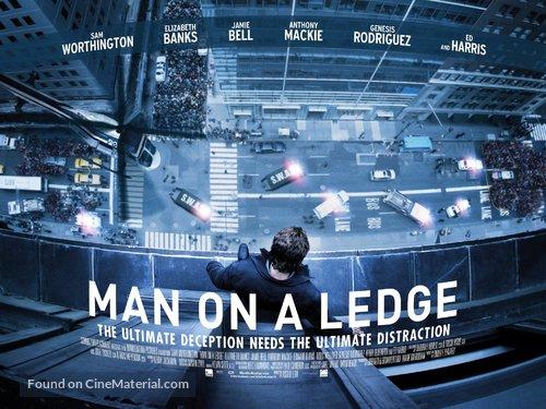 Man on a Ledge - British Movie Poster