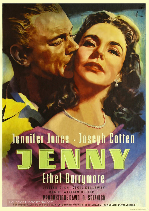 Portrait of Jennie - German Movie Poster