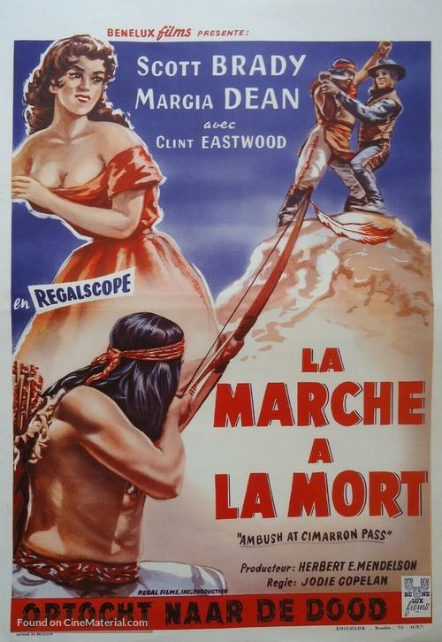 Ambush at Cimarron Pass - Belgian Movie Poster