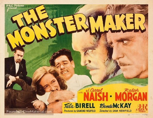 The Monster Maker - Movie Poster