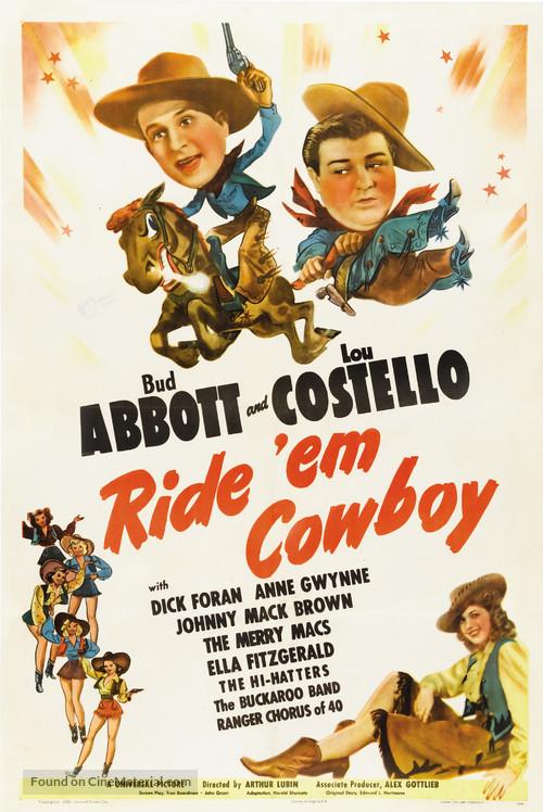 Ride 'Em Cowboy - Movie Poster