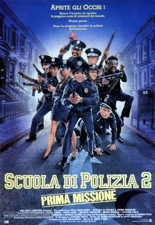 Police Academy 2: Their First Assignment - Italian Movie Poster