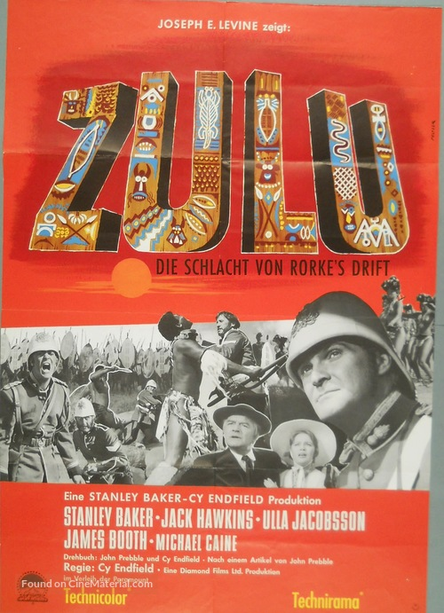 zulu german movie poster