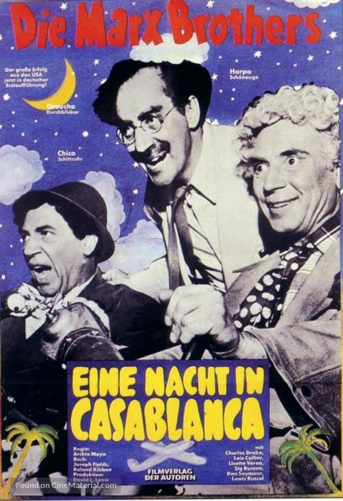 A Night in Casablanca - German Movie Poster