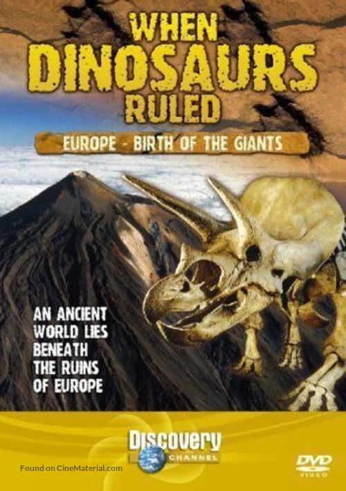 """""""When Dinosaurs Ruled"""" - British DVD movie cover"""