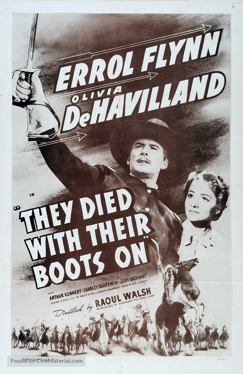They Died with Their Boots On - Movie Poster