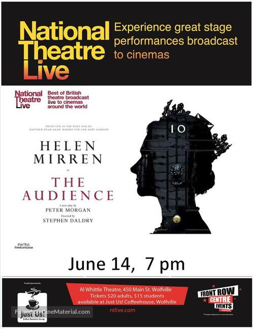 """""""National Theatre Live"""" - Canadian Movie Poster"""