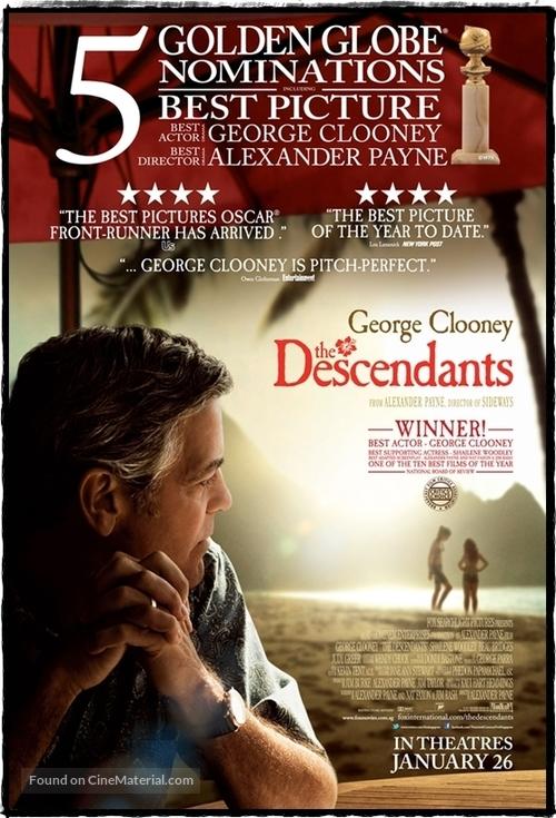 The Descendants - Singaporean Movie Poster