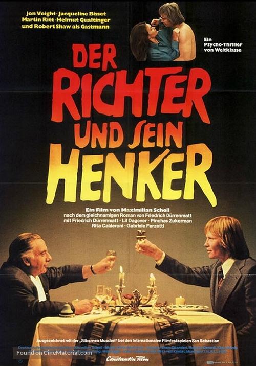 Der Richter und sein Henker - German Movie Poster