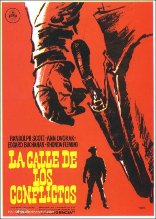 Abilene Town - Spanish Movie Poster
