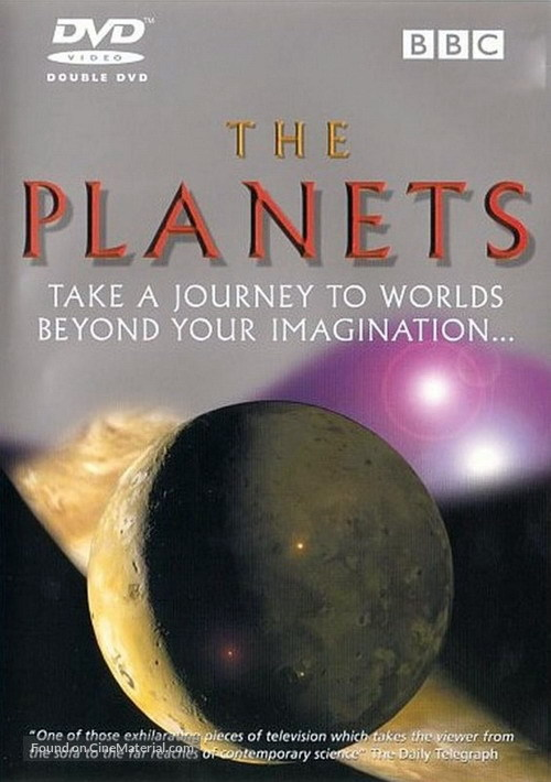 """""""The Planets"""" - DVD movie cover"""