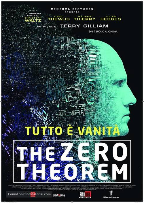 The Zero Theorem - Italian Movie Poster