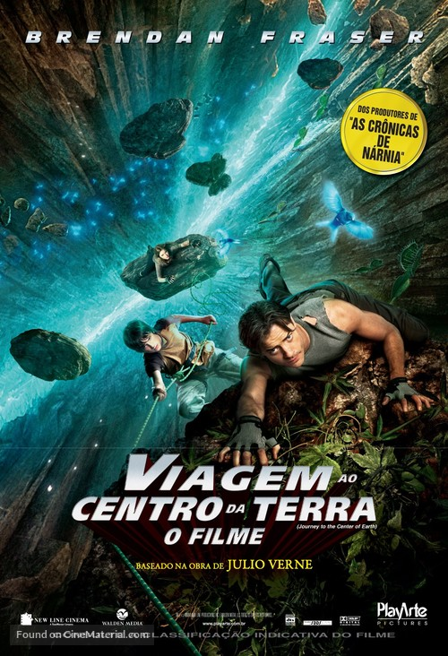 Journey to the Center of the Earth - Brazilian Movie Poster