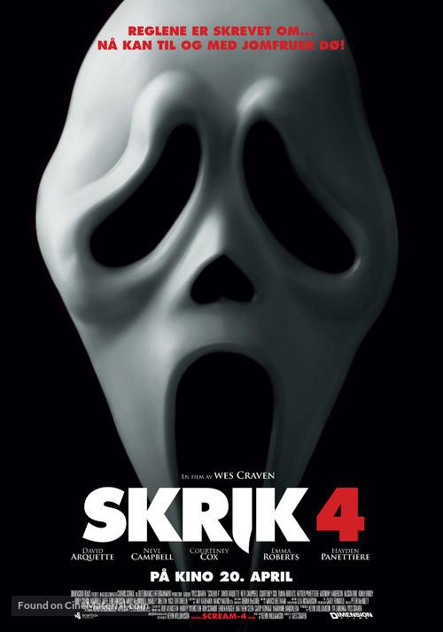 Scream 4 - Norwegian Movie Poster