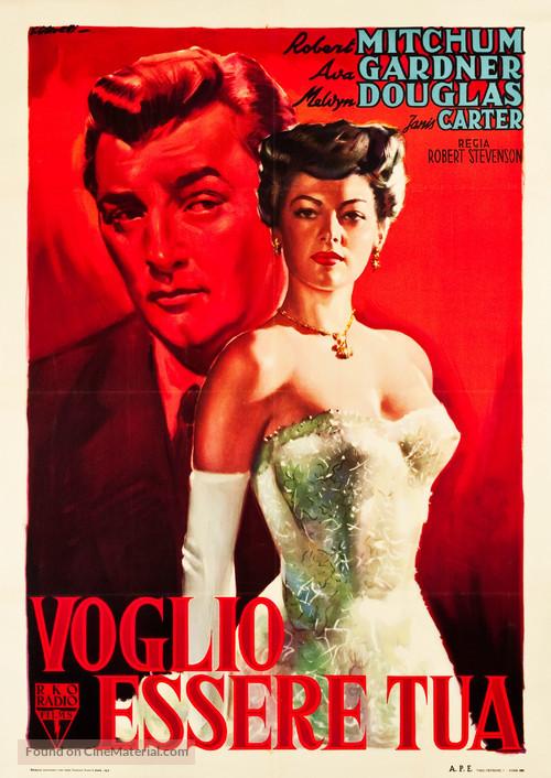 My Forbidden Past - Italian Movie Poster