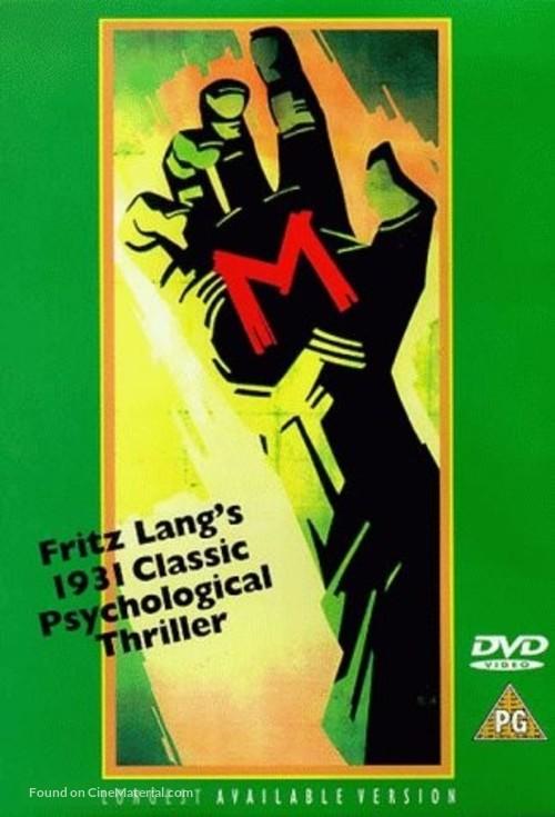M - British DVD movie cover