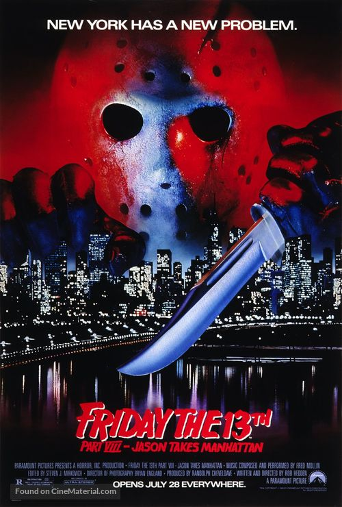 Friday the 13th Part VIII: Jason Takes Manhattan - Movie Poster