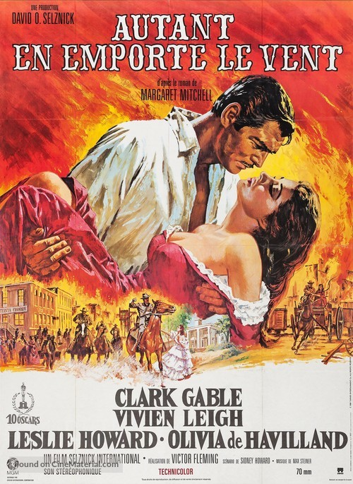 Gone with the Wind - French Movie Poster